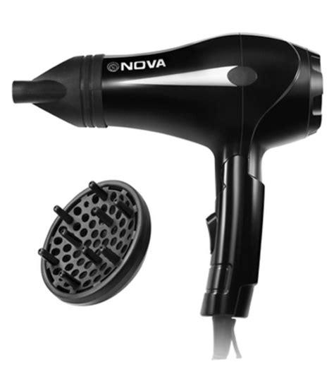 nova nhp  professional   hair dryer black buy