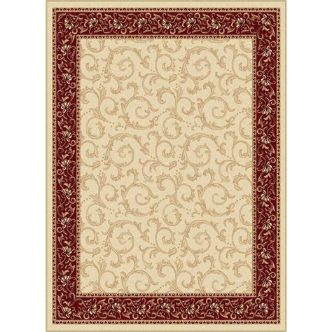 home depot 5x7 area rugs tayse rugs elegance beige 5 ft x 7 ft indoor area rug 5402 ivory 5x7 the home depot