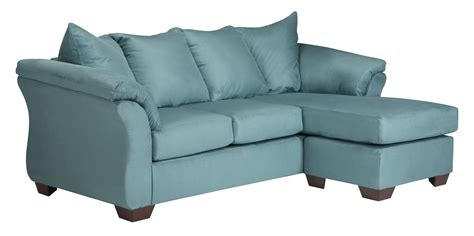 darcy sky sofa chaise reversible contemporary modern blue