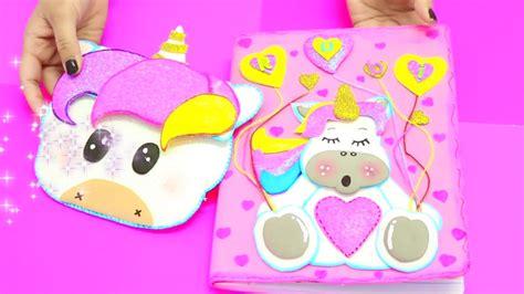 cuadernos decorados de unicornio con foami como forrar cuaderno de foami o goma eva unicornio