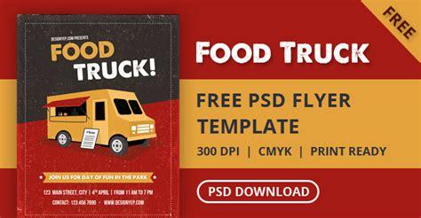 food truck business card template free free food truck flyer psd template designyep