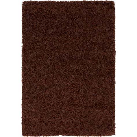chocolate brown area rug unique loom solid shag chocolate brown 4 ft x 6 ft area rug 3136091 the home depot