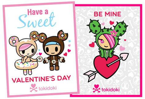 kawaii valentines day printable cards crafts kawaii