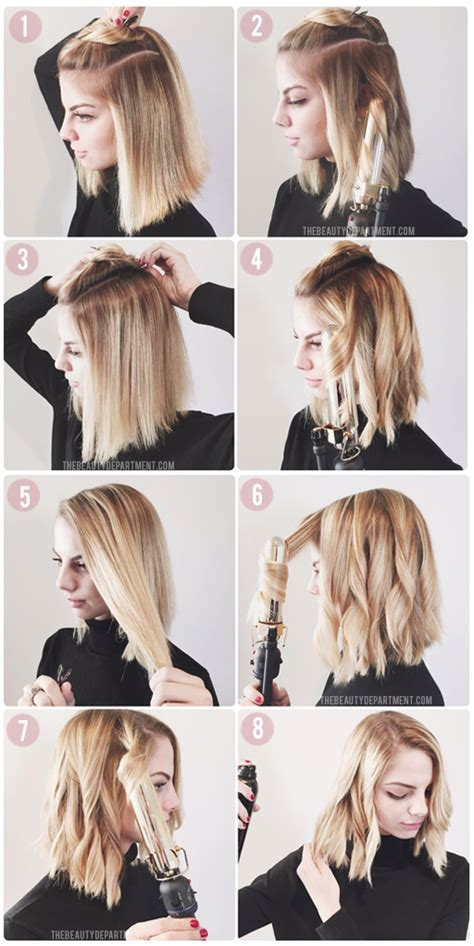 4 ways to style the lob the beauty department your daily dose of pretty how to