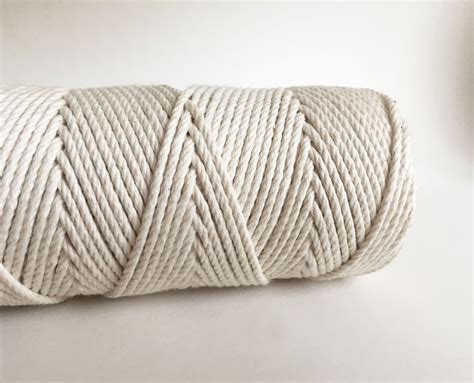 Rope Macrame - 3ply macrame rope fiber cord 100 cotton rmc