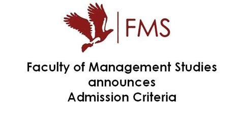Fms Mba Admission Procedure fms delhi commences admission process for mba batch 2018