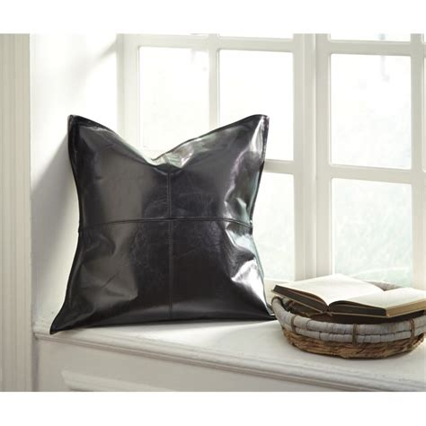throw pillows for black leather brennen leather throw pillow cover in black