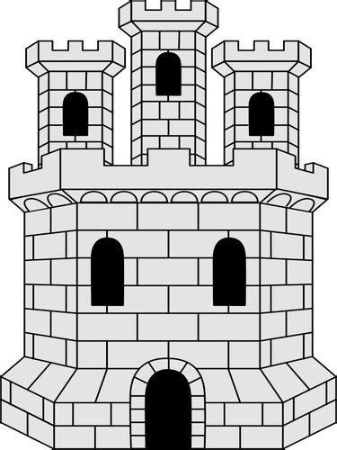 castillo medieval vectores de dominio publico