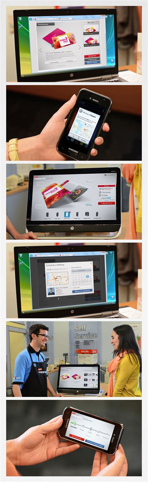 staples copy print touch screen interfaces on behance