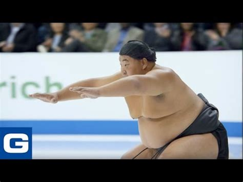who is girl in geico ice t commercial video sumo wrestler figure skating geico
