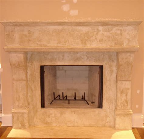 faux designs faux limestone fireplace