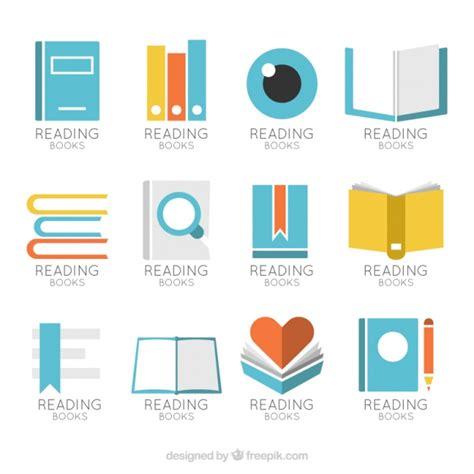 libro logo design love a great collection of book logos vector premium download