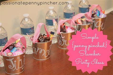 themes for a girl slumber party frugal slumber party ideas passionate penny pincher