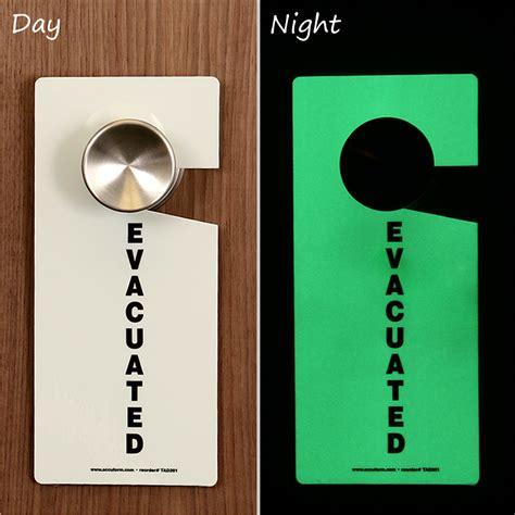 Door Knob Tags by Glow In The Evacuated Plastic Door Knob Hang Tag Sku