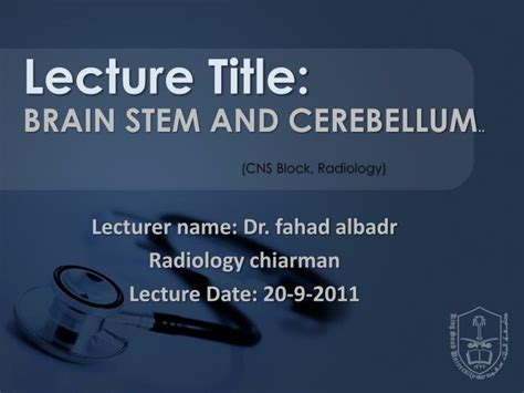 the trees names a last lecture by dr charles books ppt lecturer name dr fahad albadr radiology chiarman
