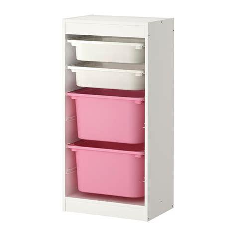 ikea aufbewahrung kinderzimmer trofast aufbewahrung mit boxen wei 223 rosa ikea