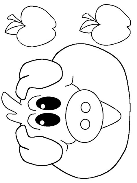free coloring pages of pig mask pattern