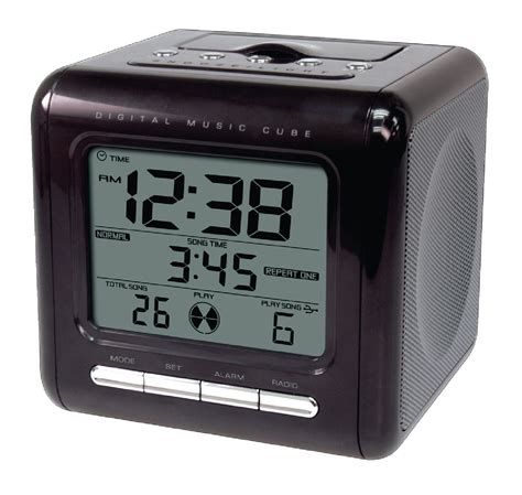 he clock 23 balance mp3 alarm clock radio with sd card slot electronic discount be