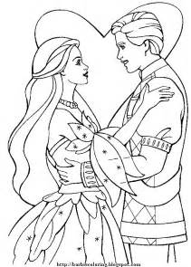 barbie coloring pages barbie and ken to print and color