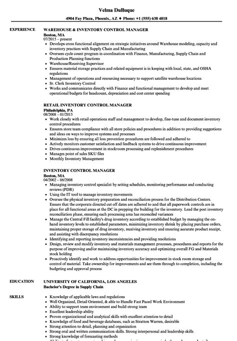 Inventory Manager Resume by Inventory Manager Resume Sles Velvet