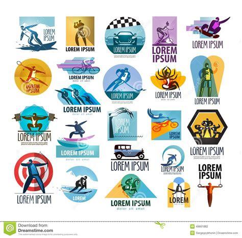 sports logo design templates sport vector logo design template fitness or stock