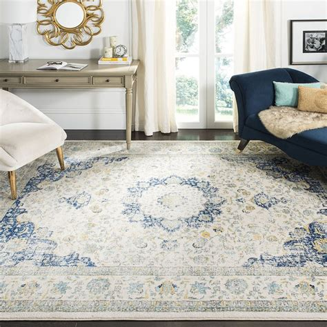 safavieh vintage rug collection safavieh evoke collection vintage ivory and blue