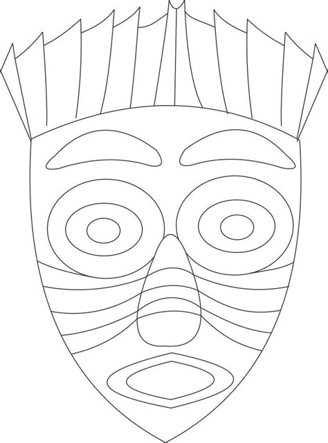 Mask Coloring Pages