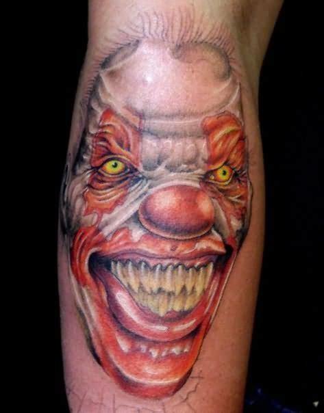 Evil Tattoo Images Designs Tattoos Of Evil Clowns