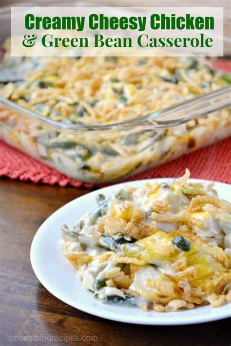 creamy cheesy chicken  green bean casserole recipe