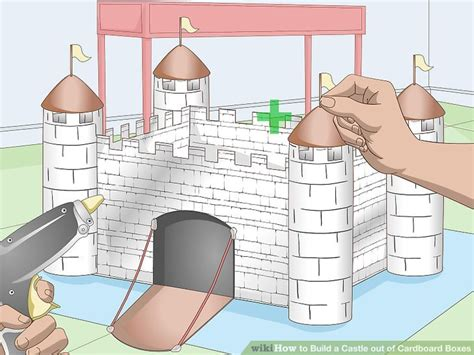 How To Make A Paper Castle By Steps - how to build a castle out of cardboard boxes with pictures