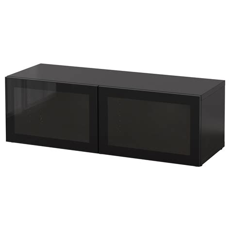besta shelf best 197 shelf unit with glass doors black brown glassvik