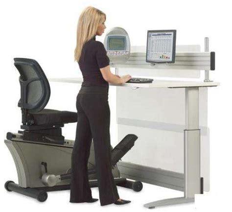 Elliptical Machine Office Desk Hammacher Schlemmer Releases 8000 Elliptical Machine Office Desk Set