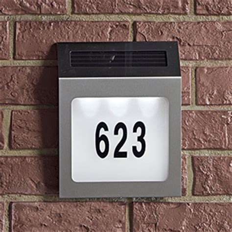 lighted address sign solar 17 best images about solar house sign on