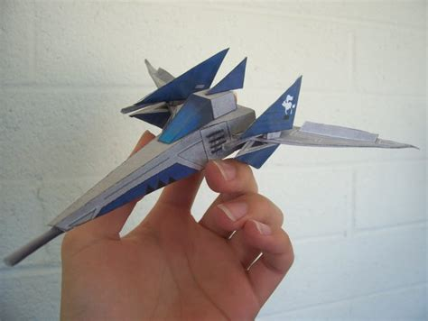 Arwing Papercraft - arwing 6 nintendo papercraft