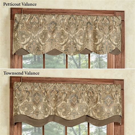 Window Valance Hollyhock Gold Layered Window Valance
