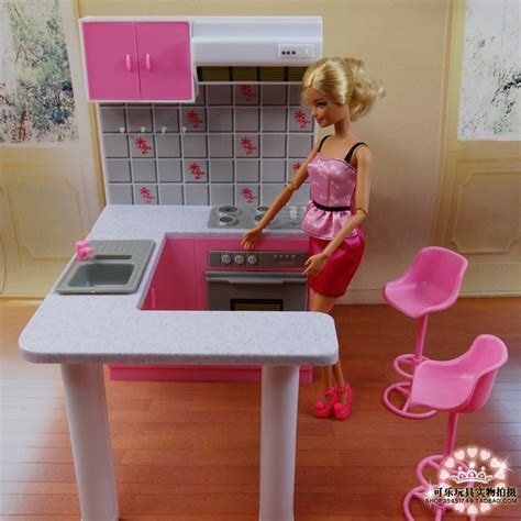 Kitchen Dollhouse Furniture newest for barbie furniture miniature combo kitchen play