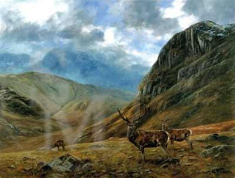 the highland guardian of the highlands books guardians of the glen highland deer print