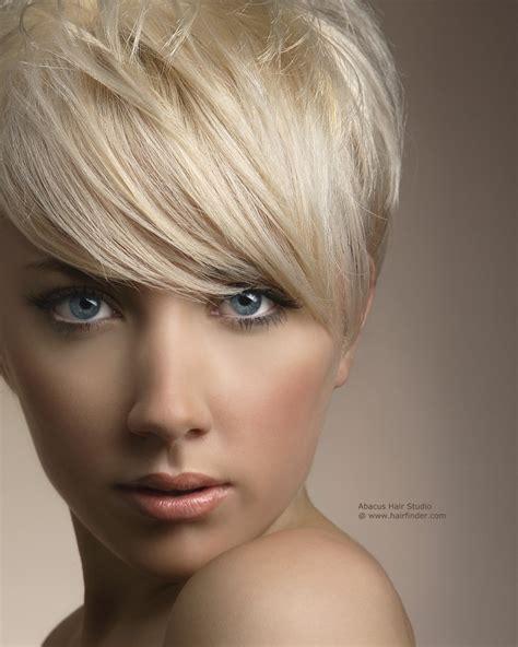 hair styles cut around the ears short platinum blonde hair cut around the ears