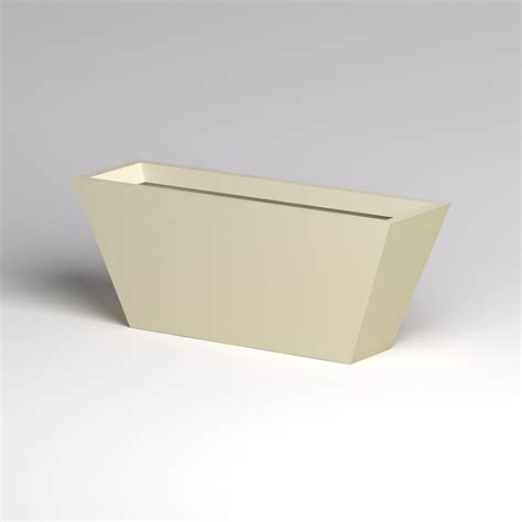 modern tapered fiberglass commercial planter 60in l x 18in