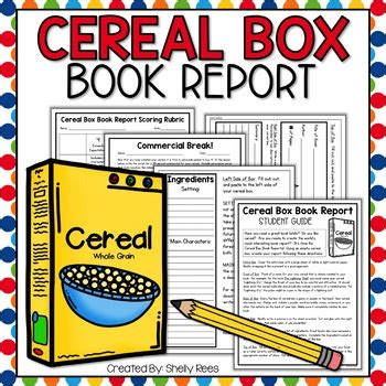 cereal box book report sles cereal box book report kit by shelly rees teachers pay