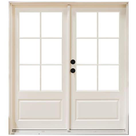 Patio Doors 144 X 80 Mp Doors 60 In X 80 In Fiberglass Smooth White Right