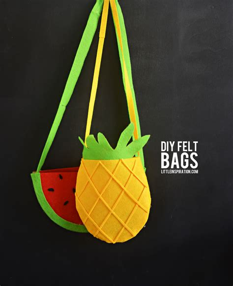 bag crafts diy pineapple watermelon felt bags no sew 187