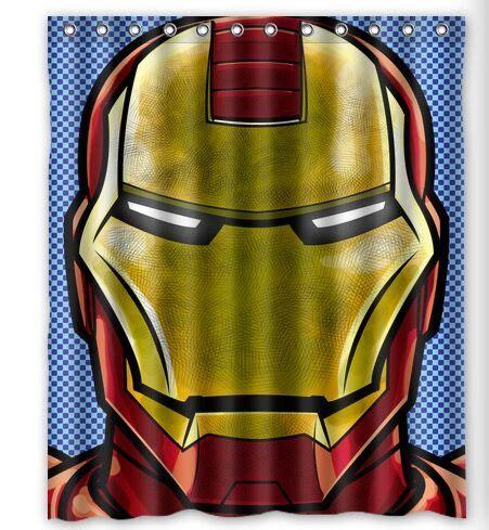 iron man bathroom decor marvel superhero iron man batman hulk spider man custom waterproof shower curtain 60