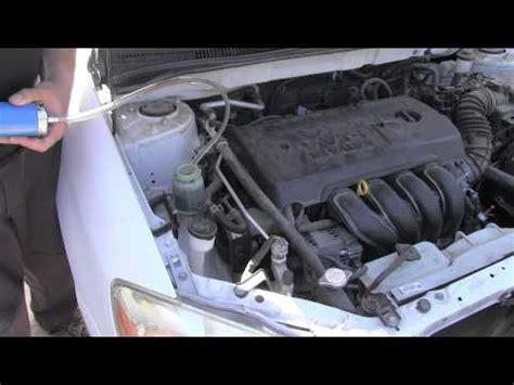 toyota corolla power steering fluid flush youtube