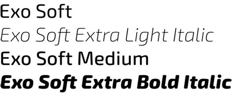 exo font exo soft a friendly soft geometric typeface by ndiscovered