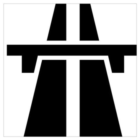 motorway/autobahn symbol poster