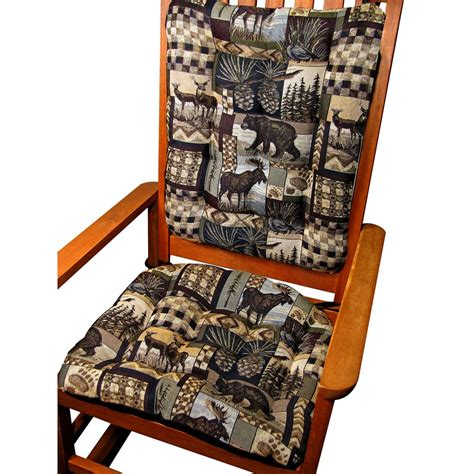 rustic rocking chair pads woodlands peters cabin rocking chair cushions foam