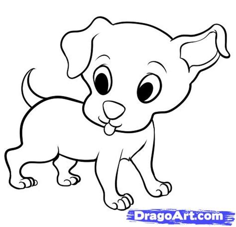 pictures of puppies to draw puppy drawing pictures to pin on pinsdaddy