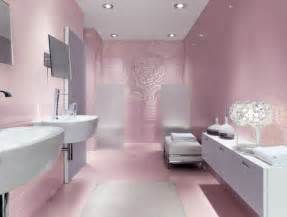 carrelage salle bain rose motifs roses sanitaire blanc mosa que get idea pink and brown bathroom master ideas