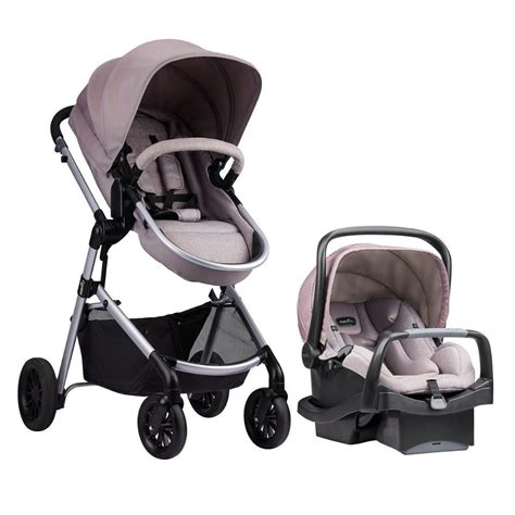 stroller with infant car seat evenflo pivot modular travel system with safemax infant